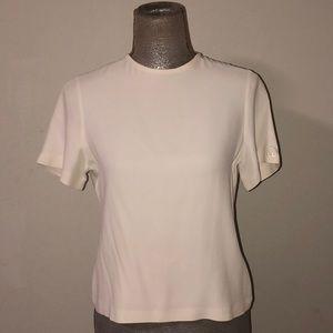 St John cream silk blouse, Size 0/P